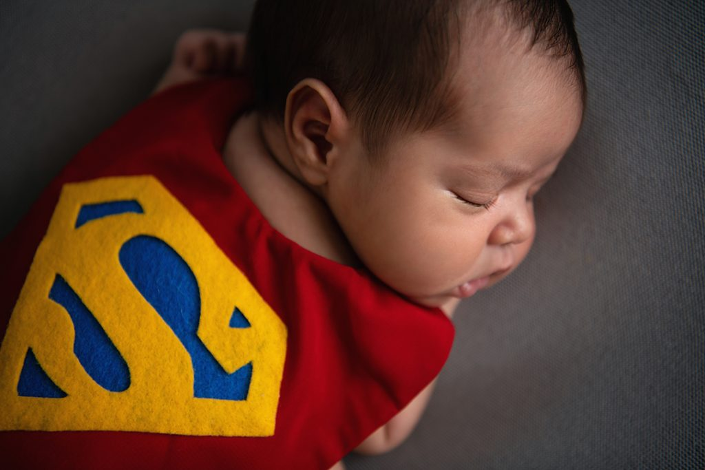 best Dallas newborn photographer Superman baby