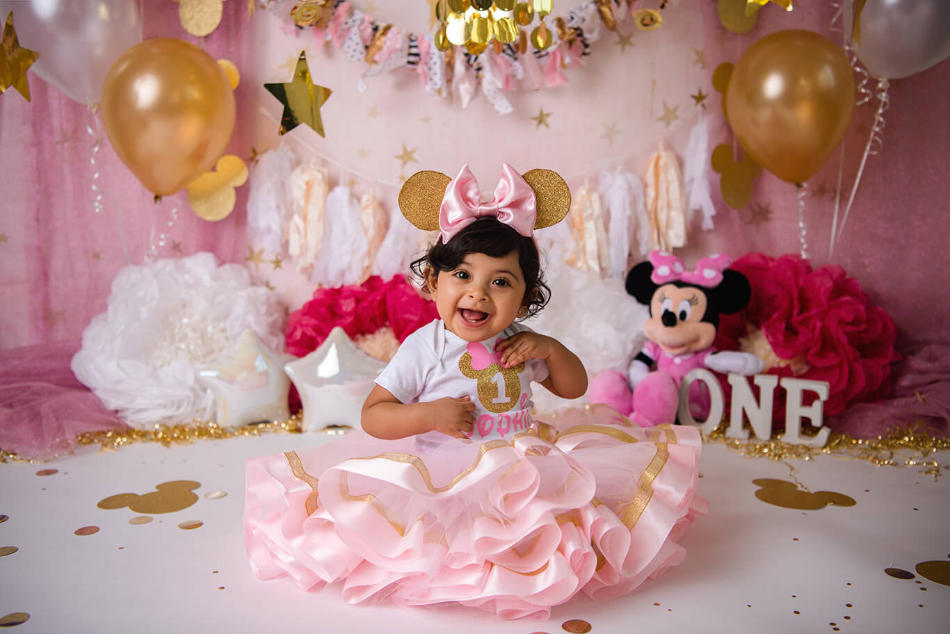 Minnie Mouse first birthday photoshoot