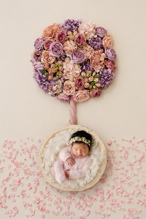 DFW newborn photographer creates unique baby photography