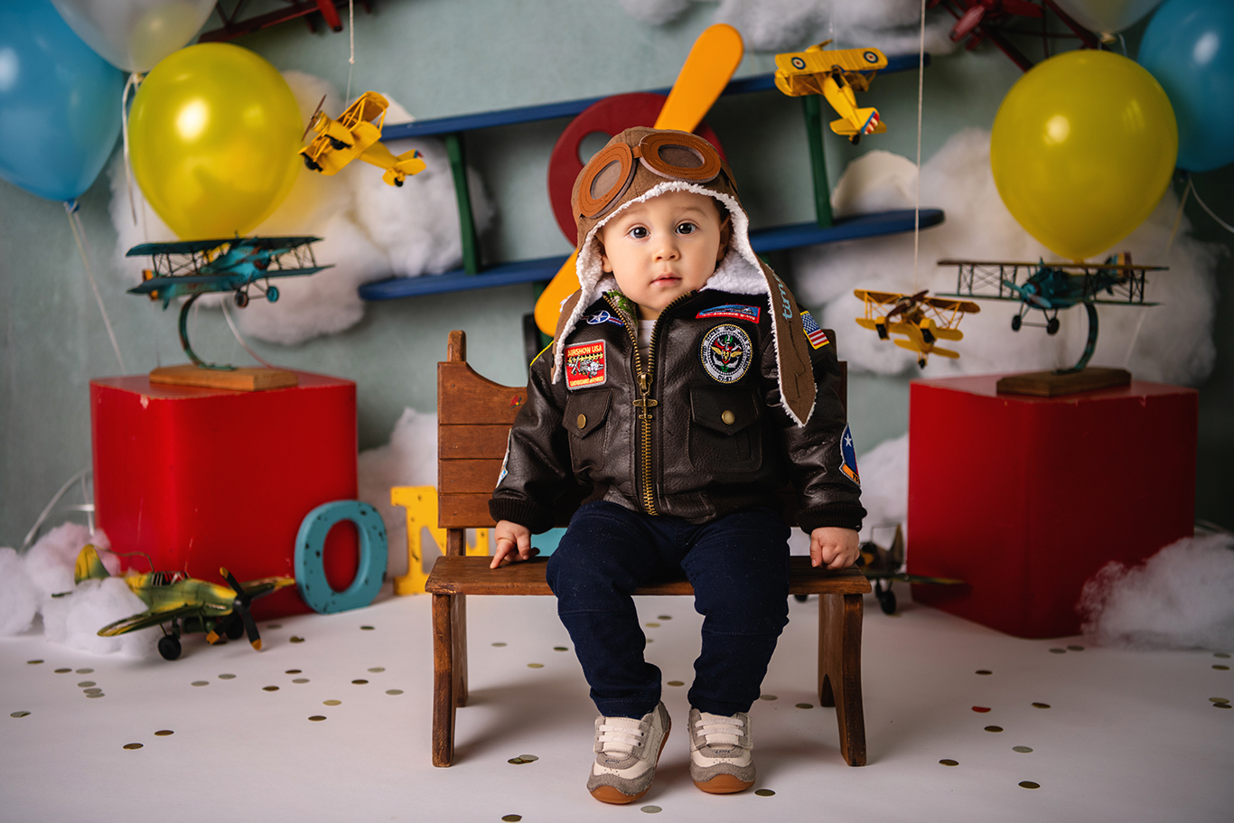 Pilot one year boy photoshoot