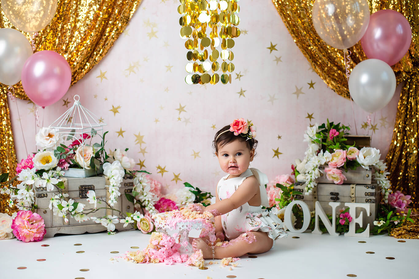 Milestone baby photography studio Dallas TX