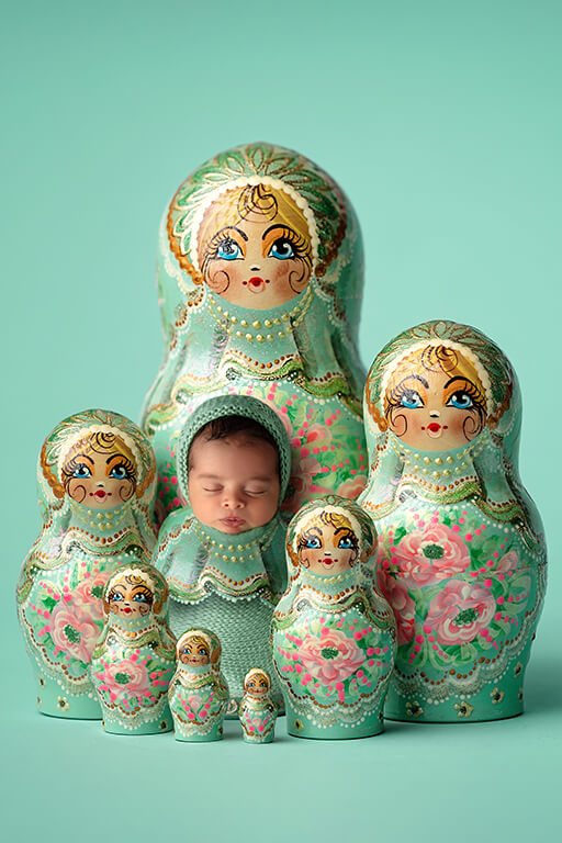 Russian dolls newborn photography DFW