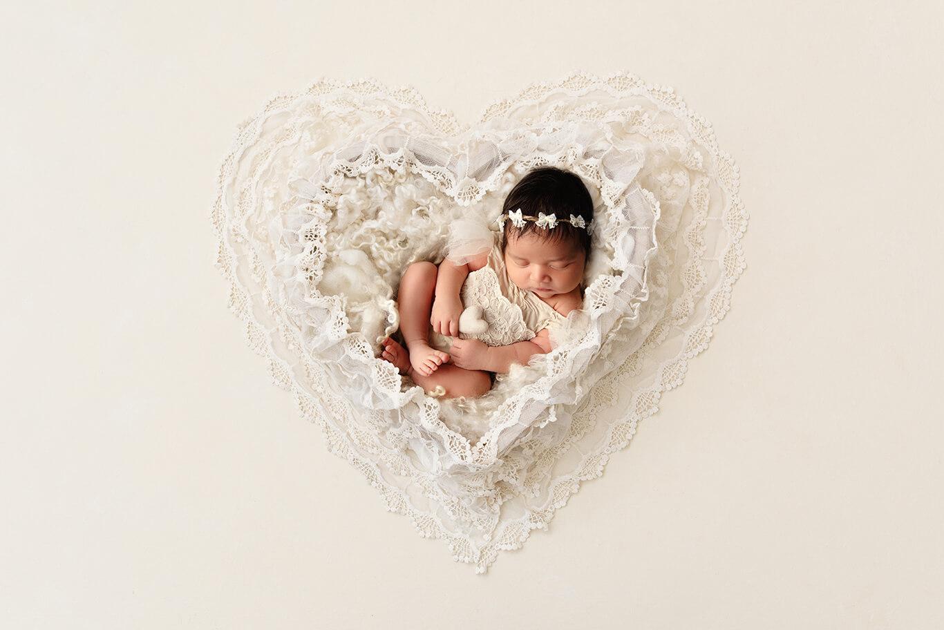 angelic newborn photography in studio