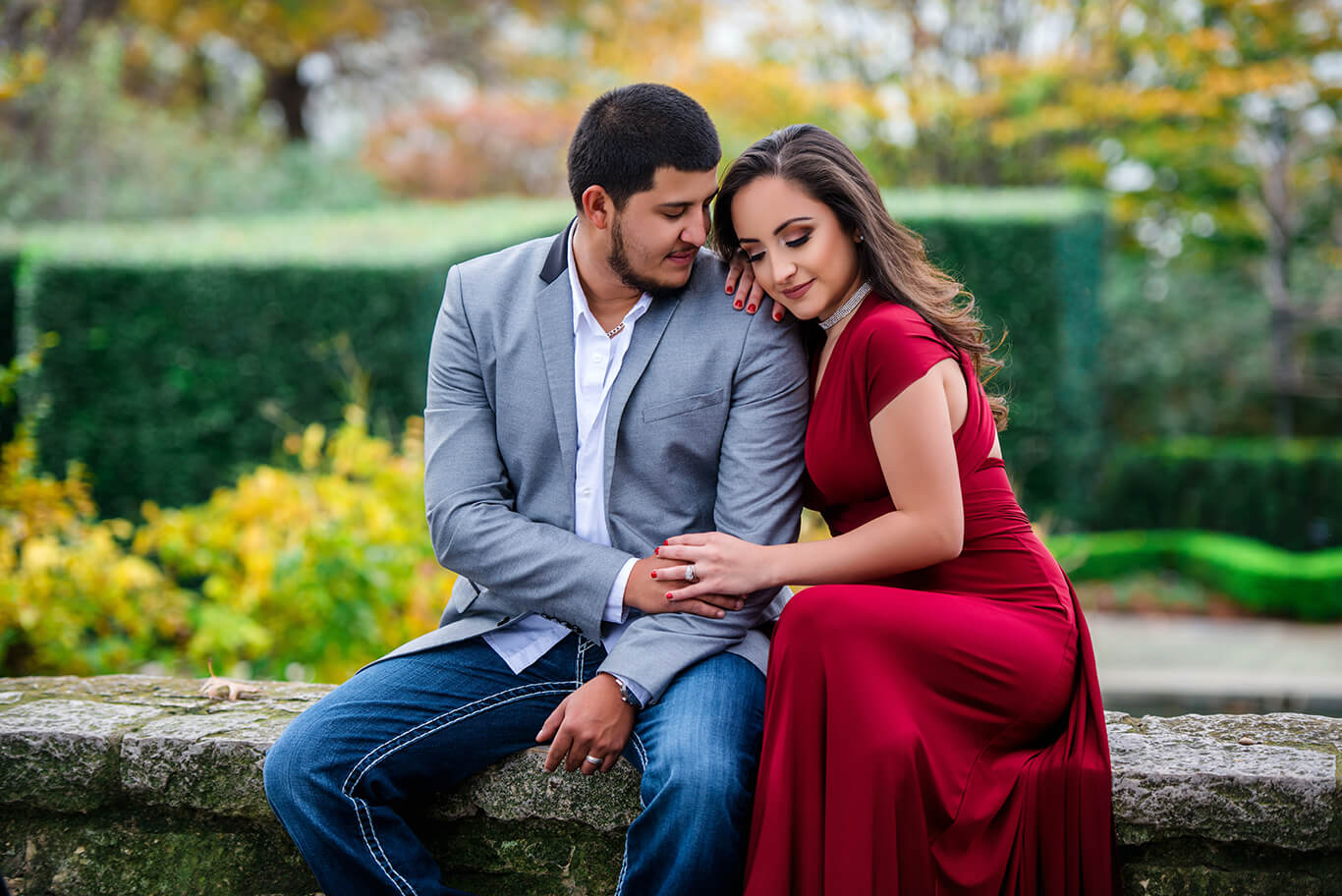 Dallas engagement photography outdoor