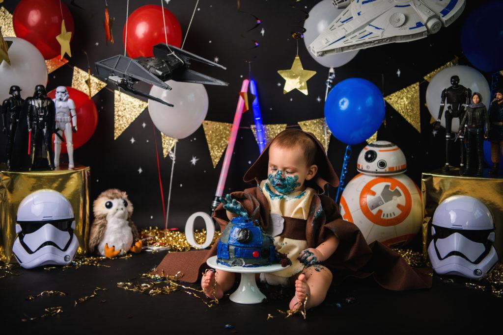 first birthday star wars cake baby Jedi