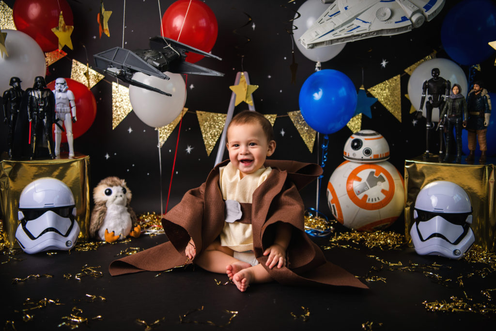 Star wars cake smash outfit first birthday photo ideas
