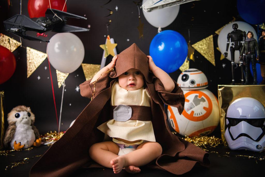 baby Yoda baby Jedi star wars baby photo