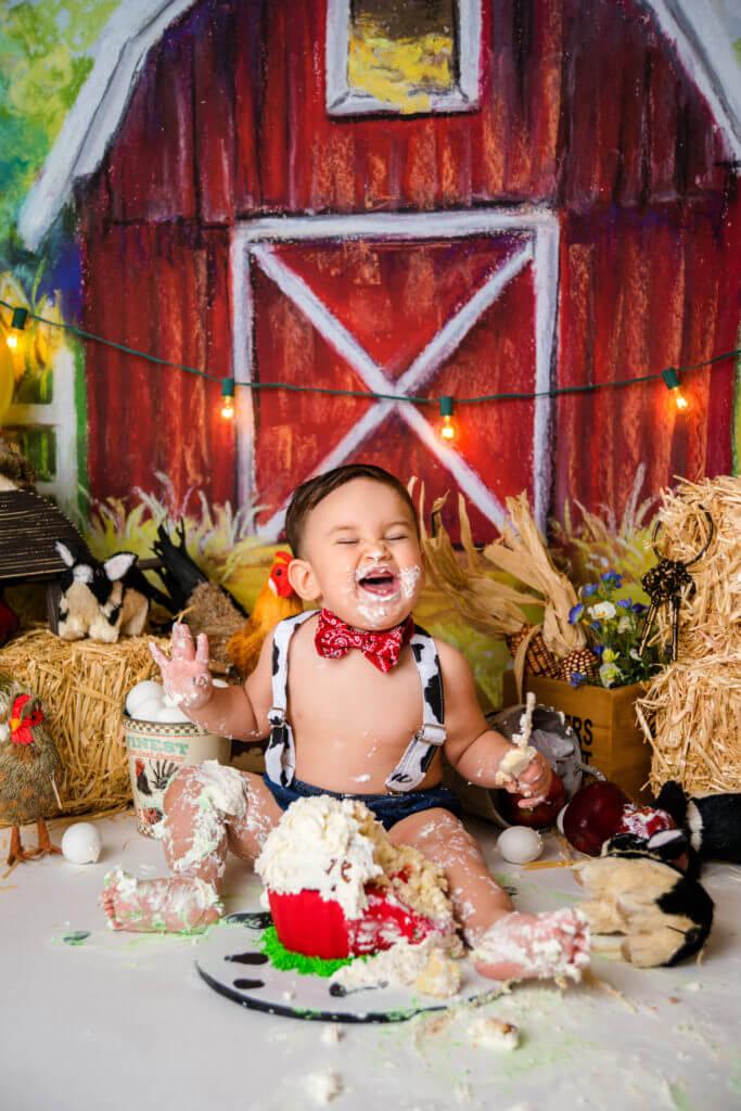 Baby boy cake smash themes Fall