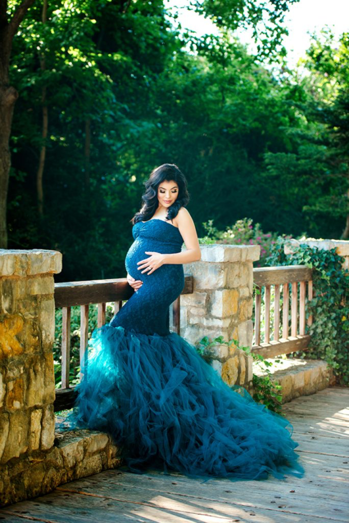 maternity gown photography fall