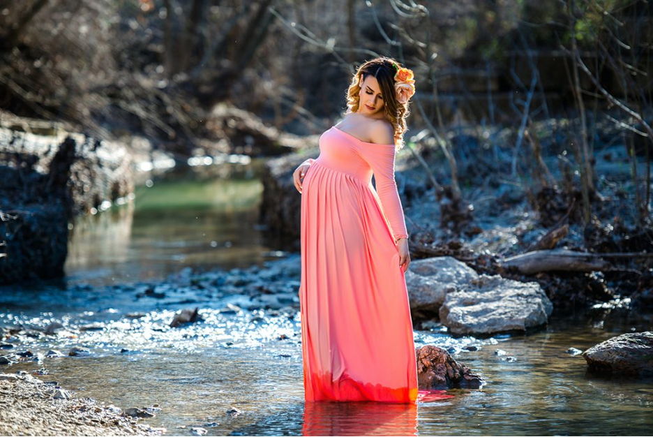 maternity photography in Dallas maternity gowns