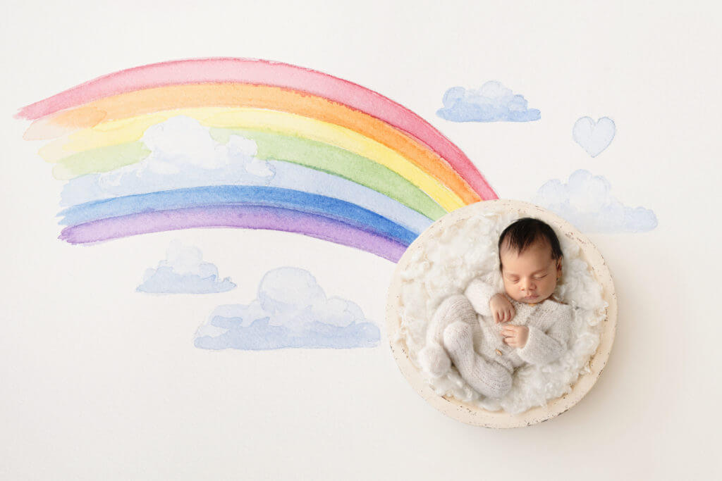My rainbow baby story maternity shoot