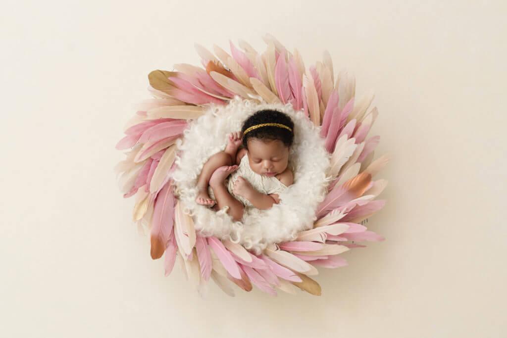 Newborn photoshoot ideas girl