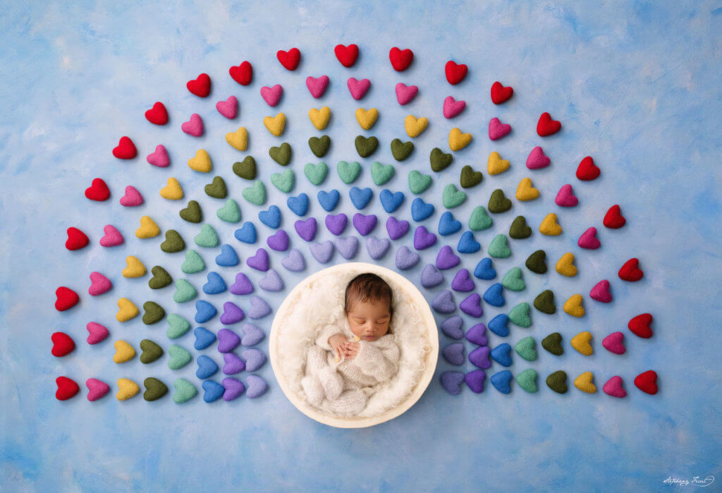 Rainbow baby newborn pictures