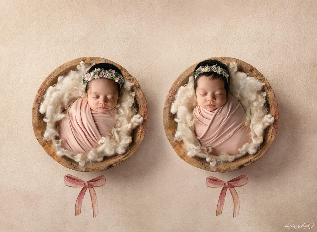 Best newborn photographers Dallas for twins newborn photography