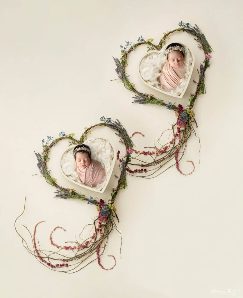 Twin newborn photography Dallas photographer