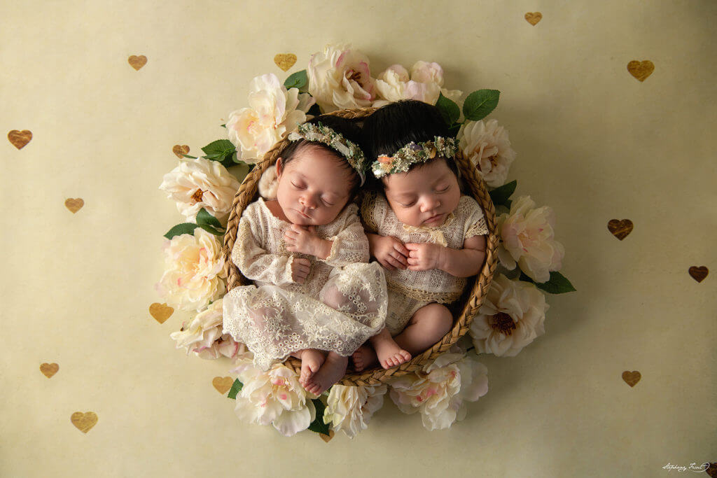 Twins newborn photos