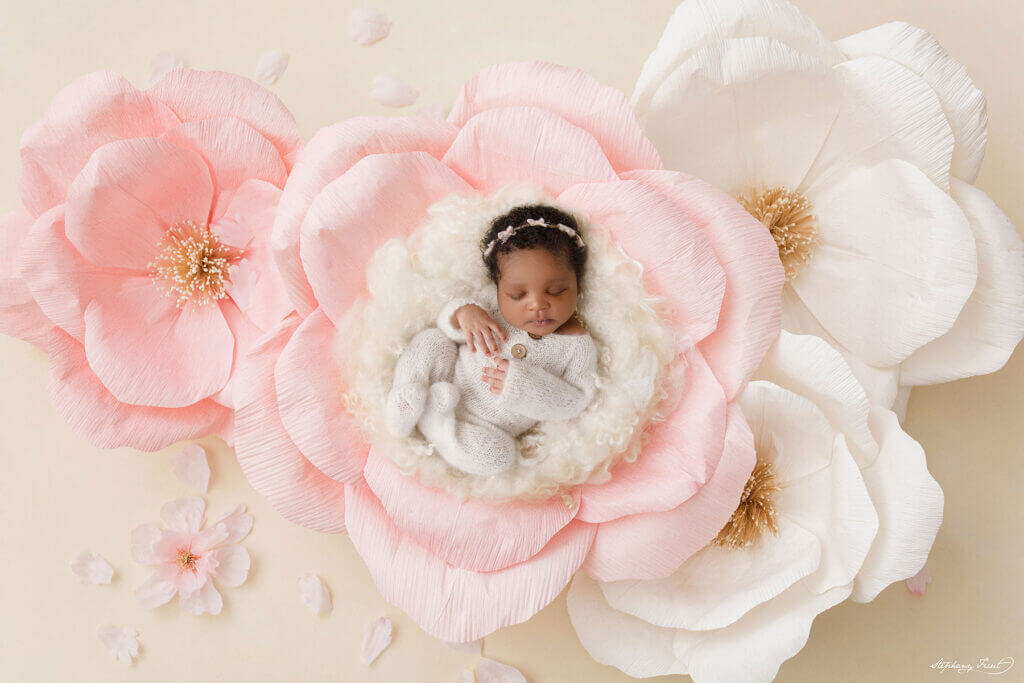floral baby photoshoot ideas