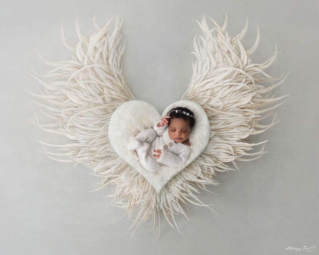 newborn photography ideas angel baby girl photo